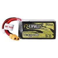 Batterie Li-Polymer - 1300mAh (22,2V) Connecteur 120C 6S R-Line V3 XT60 pour modélisme, drones, multicoptères, quadricoptère tel que 6S1P