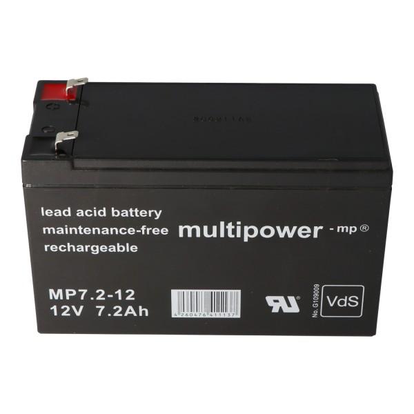 Batterie adaptée au système d'alarme Abus Terxon SX AZ4000 7.2-12 PB 12 Volt 7.2Ah Homologation VDS