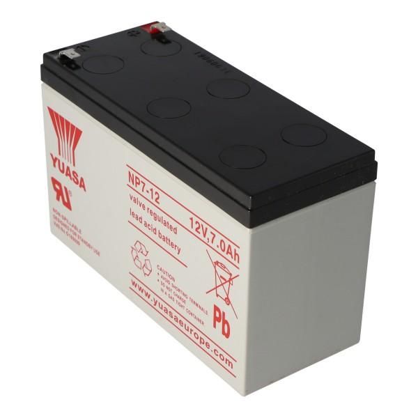 YUASA NP7-12 Batterie NPW36-12 Plomb PB 12 Volts 7000mAh avec Contacts 4.8mm