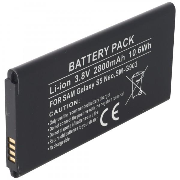 Batterie compatible pour la batterie Galaxy S5 Neo EB-BG903BBA, EB-BG903BBE