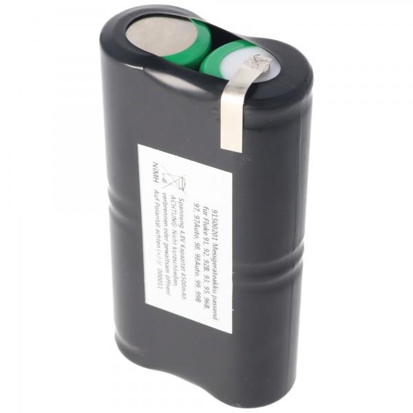 Batterie NiMh pour Fluke ScopeMeter PM9086 / 11 batterie 4.8 Volt, 3000mAh