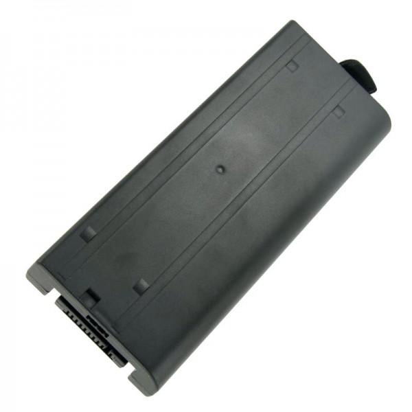 Batterie compatible pour Panasonic ToughBook CF-18, CF18, CF-VZSU30, 7.4V, 7400mAh