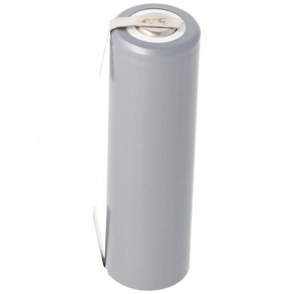 Cellule AA AccuCell HHR2200 Mignon avec patte à souder en forme de U 2200mAh