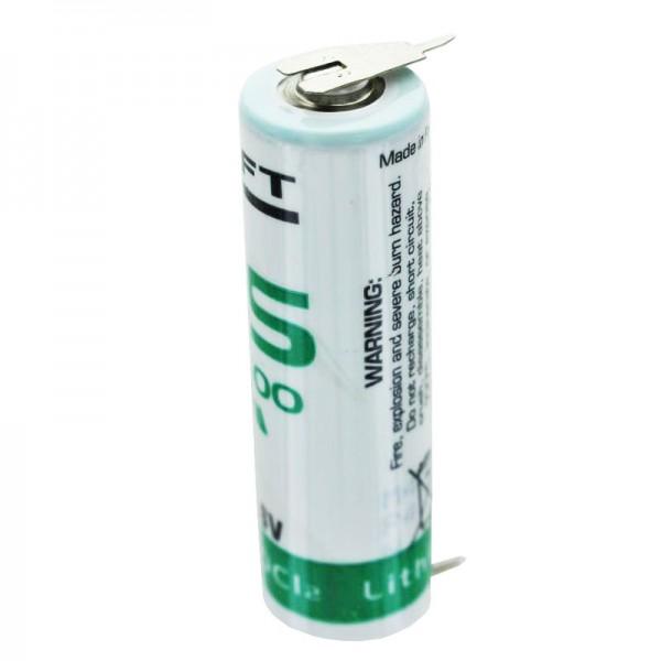 SAFT LS14500CNA Pile au lithium avec contacts à 2 couleurs