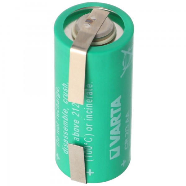 Varta CR2 / 3AA batterie au lithium, Varta 6237 avec patte à souder en forme de U, 6237301301
