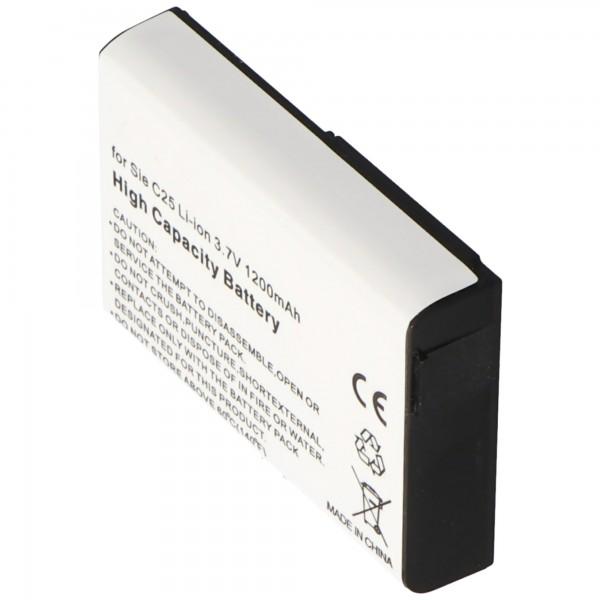 Batterie pour Siemens C25 Li-ion V30145-K1310-X103 avec 1200mAh