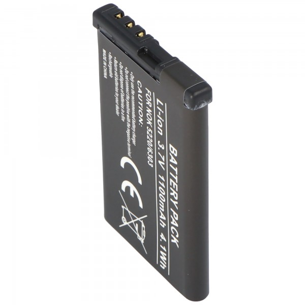 AccuCell batterie adaptée pour Nokia 5220 XpressMusic batterie 6303 classic BL-5CT