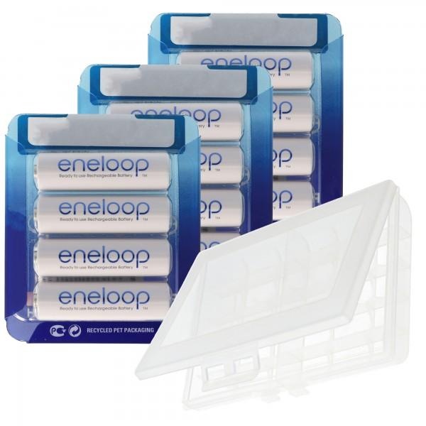 10 piles Panasonic Eneloop AA, piles Mignon, dernière génération, capacité max. 2000 mAh, 2100 cycles de charge avec AccuCell BOX10