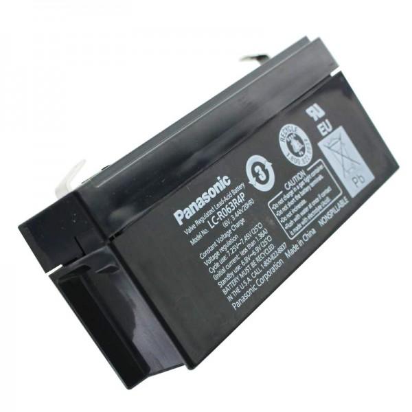 Batterie au plomb PB Panasonic LC-R063R4PG 6 volts, 3,4 Ah