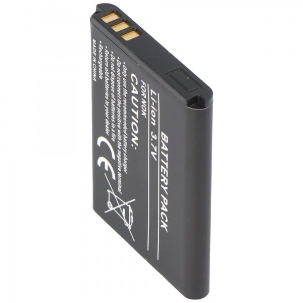 Batterie AccuCell pour Nokia 5070, BL-5B, 720mAh