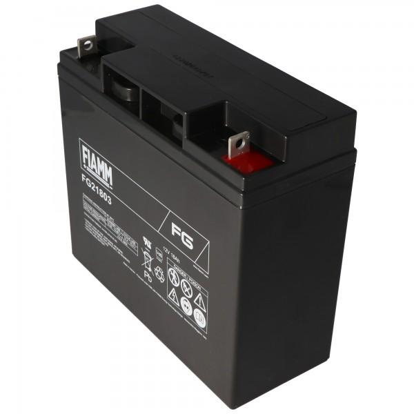 Fiamm FG21803 12V batterie 18Ah, ne convient pas comme batterie de démarrage