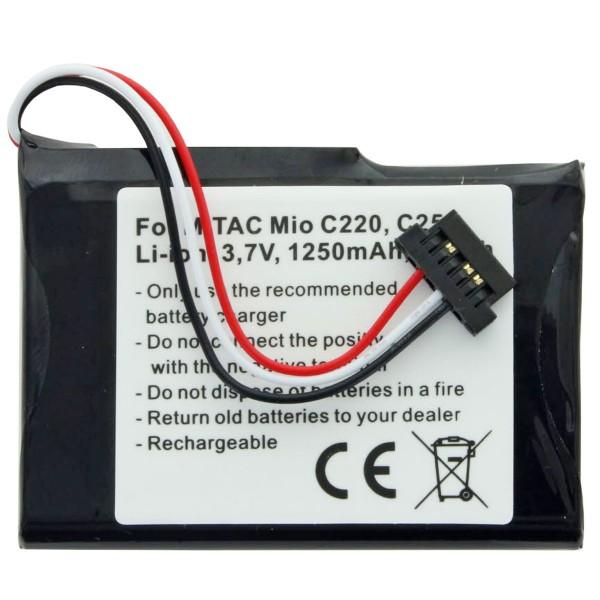 AccuCell batterie adapté pour Mitac Mio E4MT081202B12 batterie