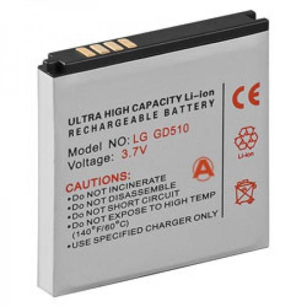Batterie compatible pour LG GD510 Pop, GD880 Mini, LGIP-550N SBPL0100001