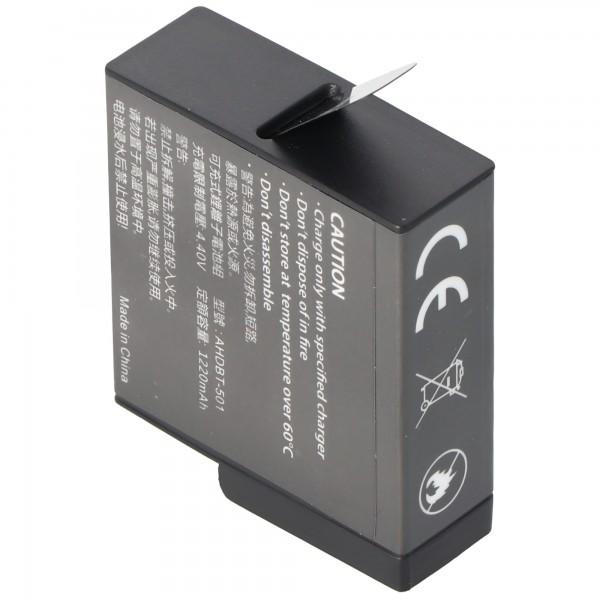 Batterie pour GoPro Hero 5 AABAT-001 Li-Ion 3.85 Volt
