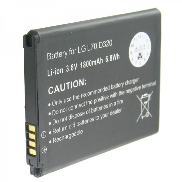 AccuCell batterie adaptée pour le LG D320, L70 batterie BL-52UH