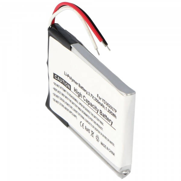 Batterie YD362937P pour la télécommande Wi-Fi GoPro ARMTE-001 GoPro (non d'origine)