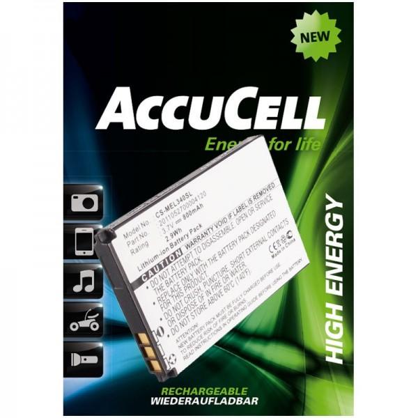 Batterie AccuCell pour Elson, Mobistel EL340, EL340 Dual, etc.