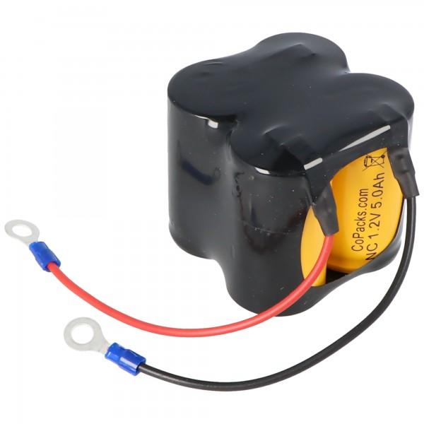 AccuCell batterie adaptée pour CEAG C5008 Ni-CD