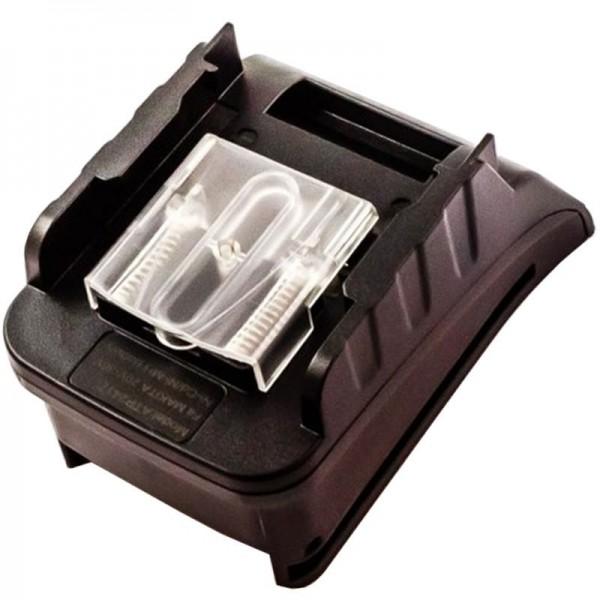 Adaptateur de charge AccuCell adapté à la batterie Makita B2417, B2420, B2430, BH2420, BH2430, BH2433