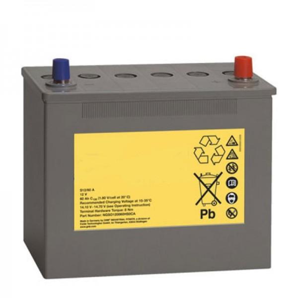 Batterie pour Poliscan Speed Vitronic, batterie de rechange connexion A-Pol 12 Volt 60Ah