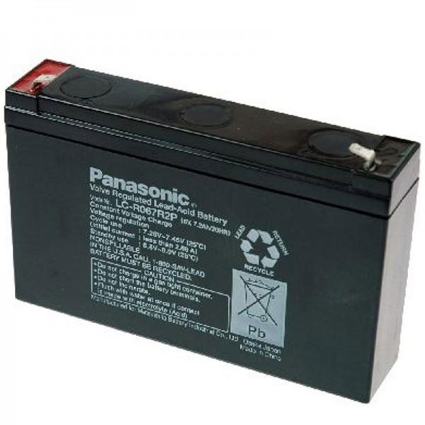 Batterie au plomb Panasonic BT-6M7.0AC avec 6 volts et 7200mAh