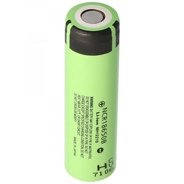 Batterie Li-ion Panasonic NCR18650B sans tête, flattop 65.3x18.5mm 3.6-3.7V 3400mAh pour les applications basse tension