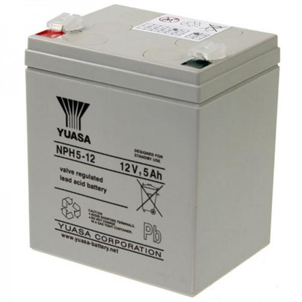 YUASA NPH5-12 Câble de batterie PB 12Volt 5Ah