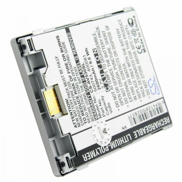 Batterie adapté pour Archos AV530, 400081, 400084, 500738
