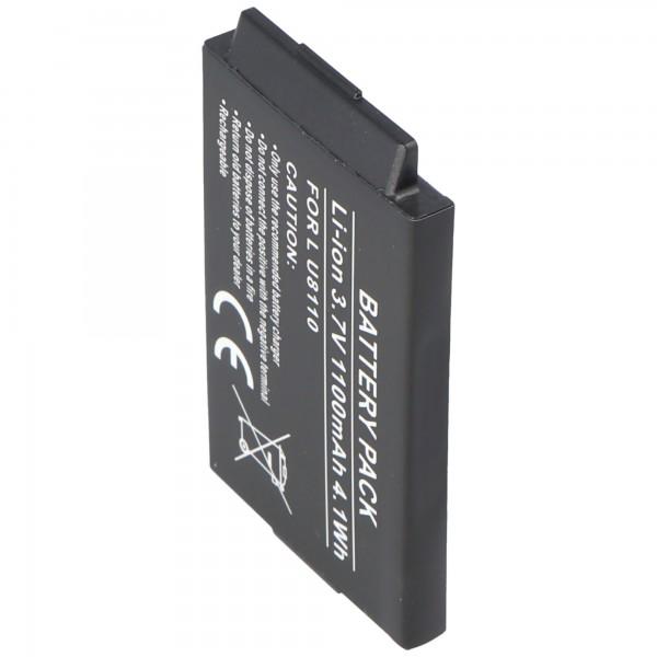 AccuCell batterie adaptéee pour LG U8120, 1000mAh