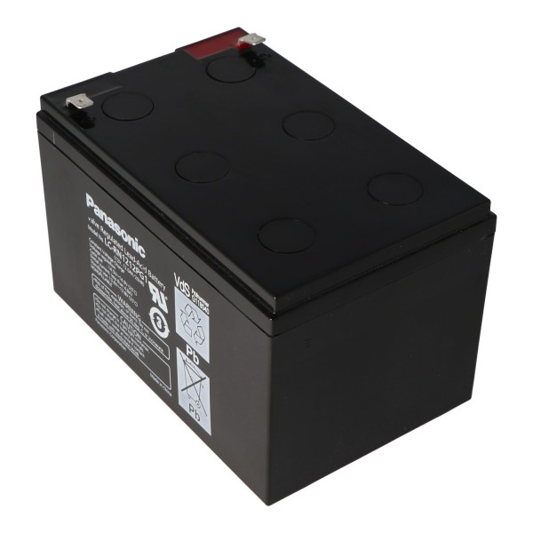 Panasonic LC-RA1212PG1 contacts de fiche de batterie 12 volts 12Ah 6.3mm