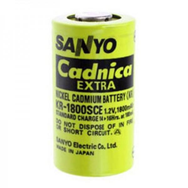 Sanyo KR-1800SCE Batterie Sub-C unicellulaire sans étiquette de soudure