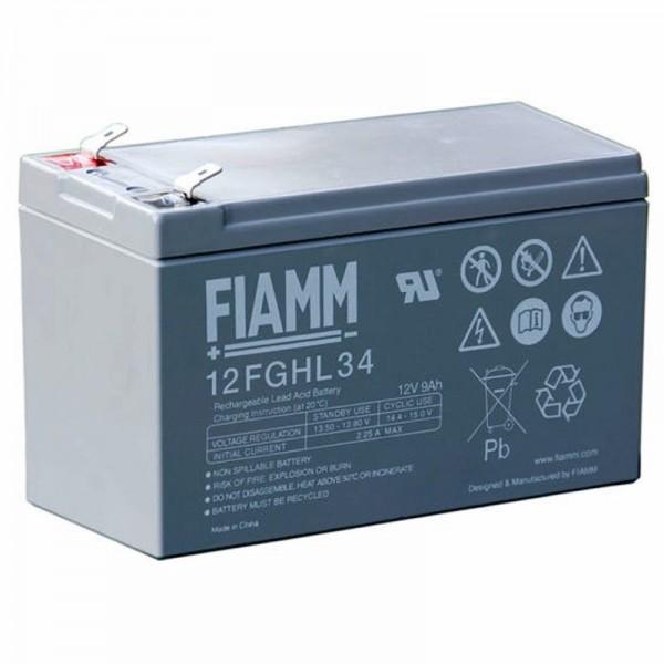 Batterie au plomb Fiamm 12FGHL34 12 volts 9000mAh avec contacts Faston 6.3mm