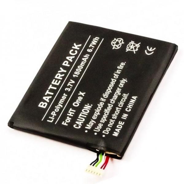 Batterie pour téléphone portable HTC Endeavor, One X, One X LTE, One XT, Supreme