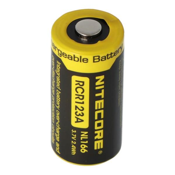 CR123A NiteCore 16340 Batterie Li-ion 2 / 3A pour lampes 3,7 Volt 650mAh