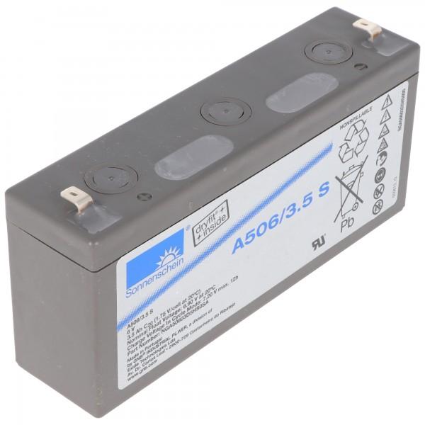 Batterie au plomb Sonnenschein Dryfit A506 / 3.5S, connexion 4.8mm