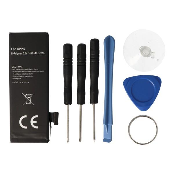 AccuCell batterie adaptée pour Apple iPhone 5 batterie 616-0611, 616-0613, A1429