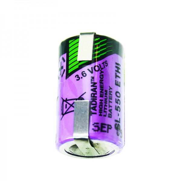 Tadiran LTC SL-550 / T, N ° de fabricant: 1110550200 avec étiquettes de soudure en forme de U