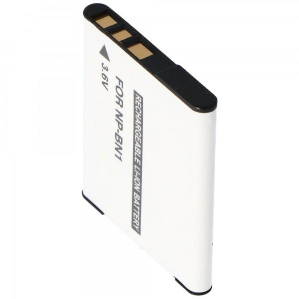 Batterie pour Sony NP-BN1 type de batterie N sans batterie d'origine d'une capacité de 630 mAh