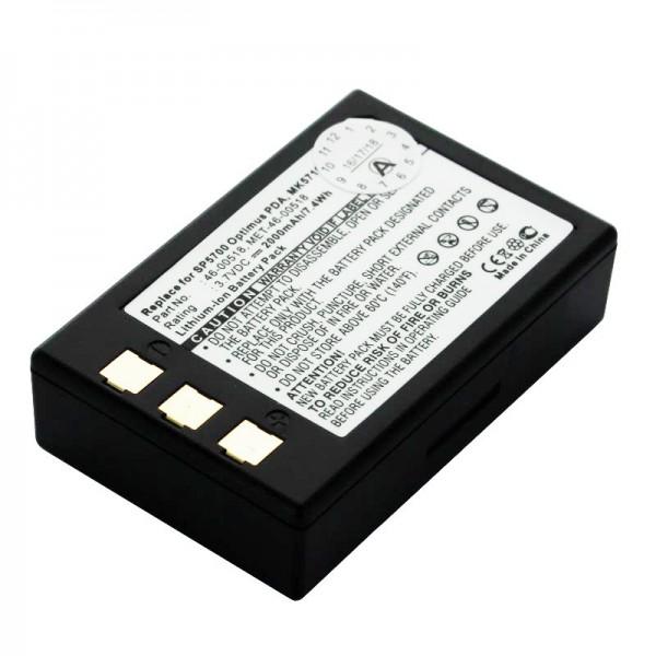 Batterie pour scanner Metrologic SP5700, Optimus PDA, MK5710 Batterie 46-00518, MET-46-00518