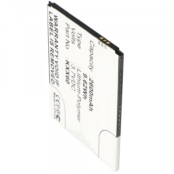 Batterie pour Kazam Trooper 2 6.0, Trooper 2 X6.0 3.7 Volt 2600mAh