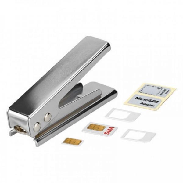 Poinçons pour cartes SIM sur micro SIM avec adaptateur