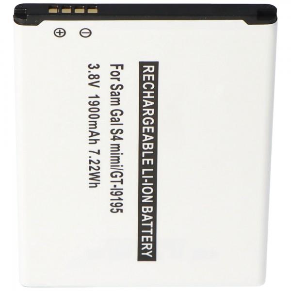 Batterie de remplacement pour Samsung Galaxy S4 Mini, GT-I9195, GT-I9190, GT-I9192, B500BE
