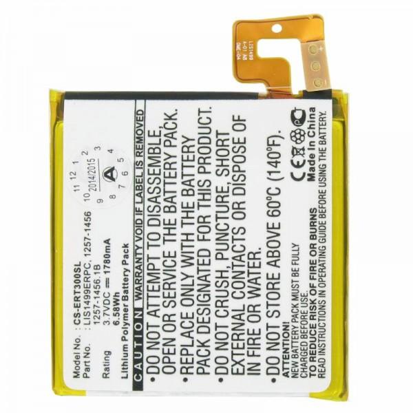 Batterie AccuCell pour téléphone mobile Sony Ericsson Xperia T, TL, LT30a, LT30i, menthe