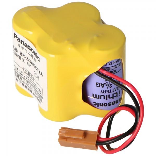Batterie au lithium Panasonic CNC BR-2 / 3AGCT4A, Fanuc A98L-0031-0025, BR-2 / 3AG