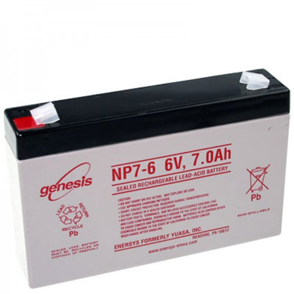Hawker Enersys Genesis NP7-6 Batterie au plomb 6 volts 7000mAh
