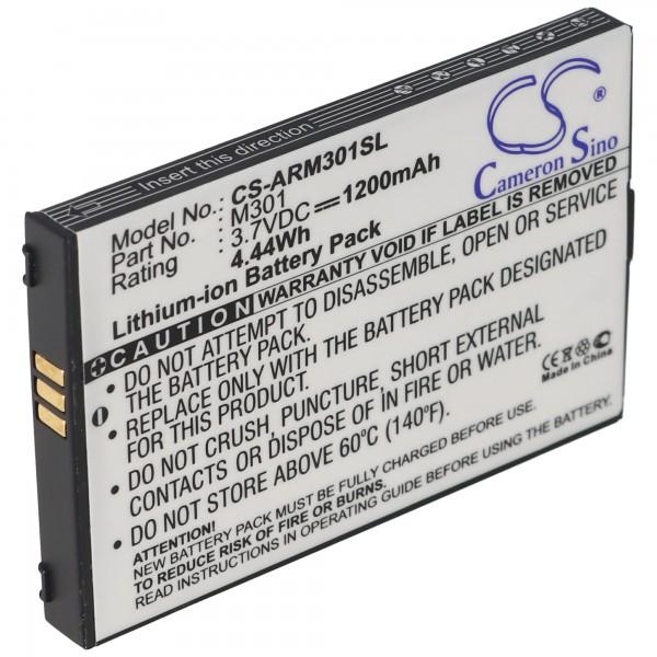 AccuCell batterie compatible avec Auro M301 batterie de téléphone portable