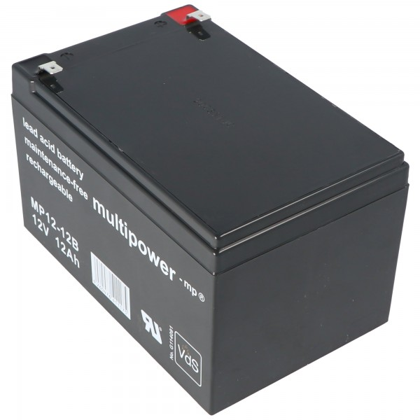 Batterie au plomb Multipower MP12-12B 12 Volts 12 Ah,