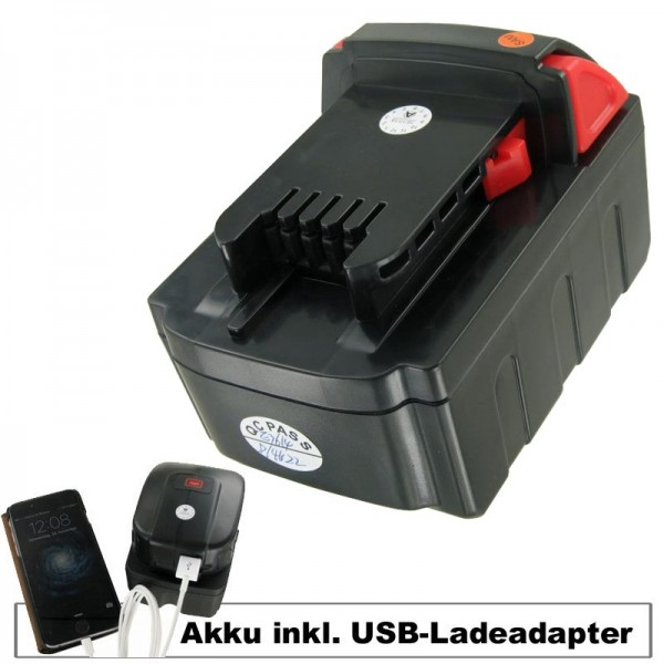 Adaptateur batterie et chargeur USB adaptable à MILWAUKEE M18 VC batterie Li-ion 18 Volt, 4000mAh