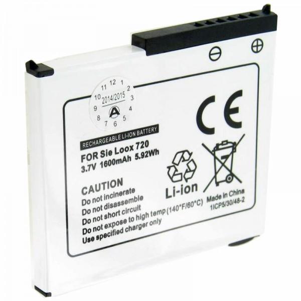 Batterie adaptée pour Fujitsu-Siemens Pocket Loox 720