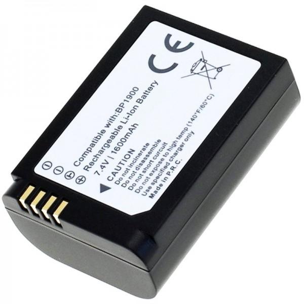 AccuCell batterie adapté pour Samsung NX1 batterie BP1900 avec 1600mAh